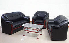 Sofa Black Leather